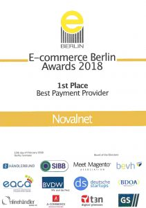 Ecommerce berlin awards 2018