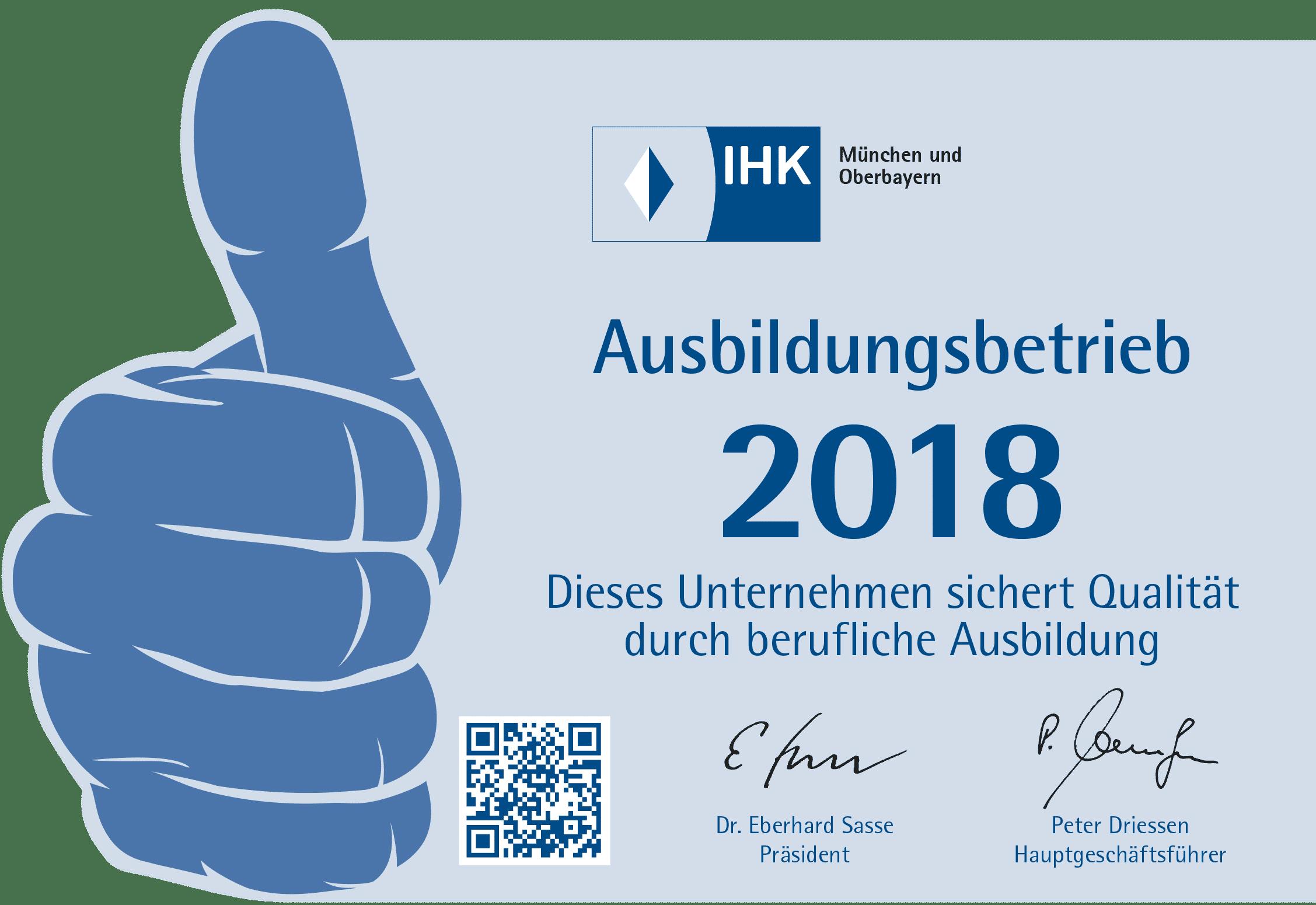 Ausbildungsbetrieb 2018