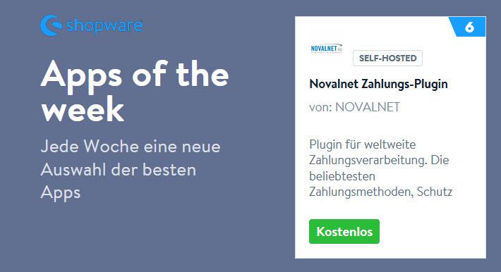 Novalnet-Plugin als eine der besten Shopware-Apps ausgewählt
